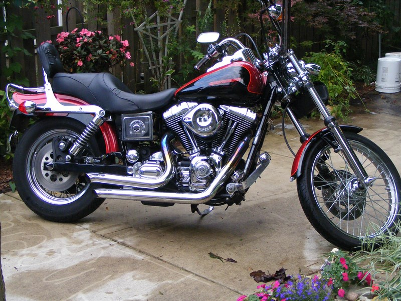 1999 harley davidson fxdwg dyna wide glide red and. Black Bedroom Furniture Sets. Home Design Ideas