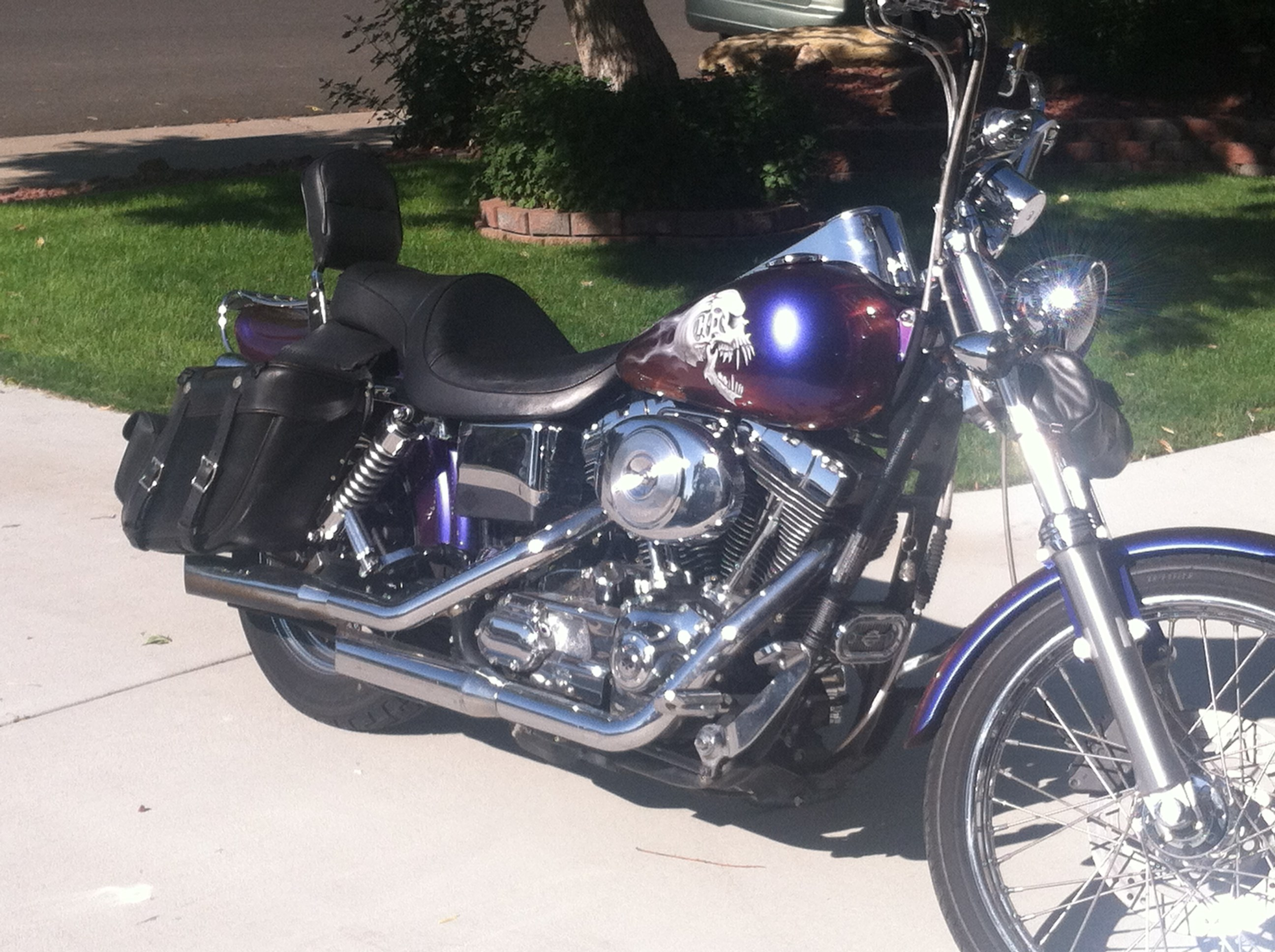 2001 harley davidson fxdx dyna super glide sport tan n purple camillion thornton colorado. Black Bedroom Furniture Sets. Home Design Ideas